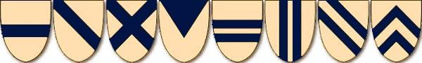 Геральдические фигуры в гербах на щитах. Основные типы геометрических фигур