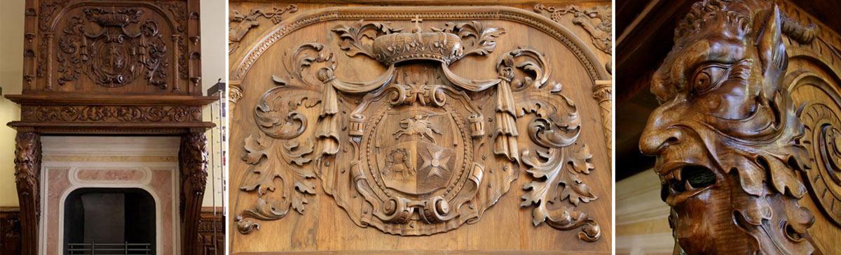 Камин XIX века. Фамильный герб князей Голициных
