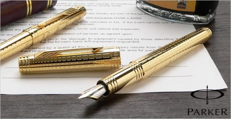 Ручки PARKER с персональной символикой – готовим подарки!