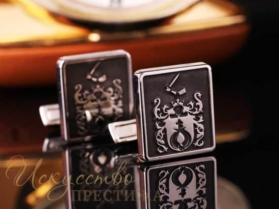 запонки с фамильным гербом - элитный подарок