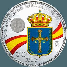 Герб Астурии, флаг, монета
