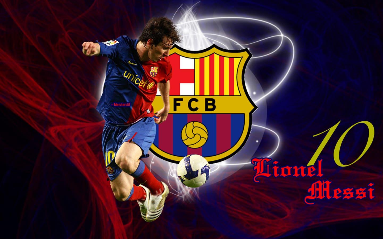 Герб спортивного клуба Барселона, футболист Lionel Messi