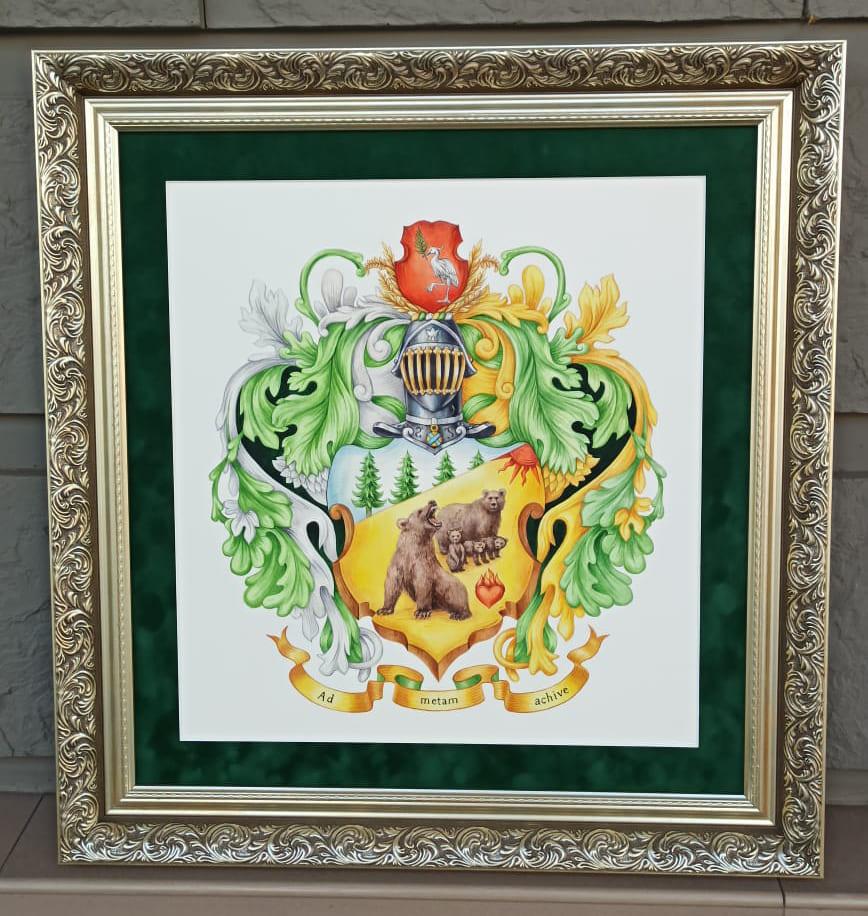 Семейный герб – подарок на юбилей 50 лет, 60 лет, 40 лет
