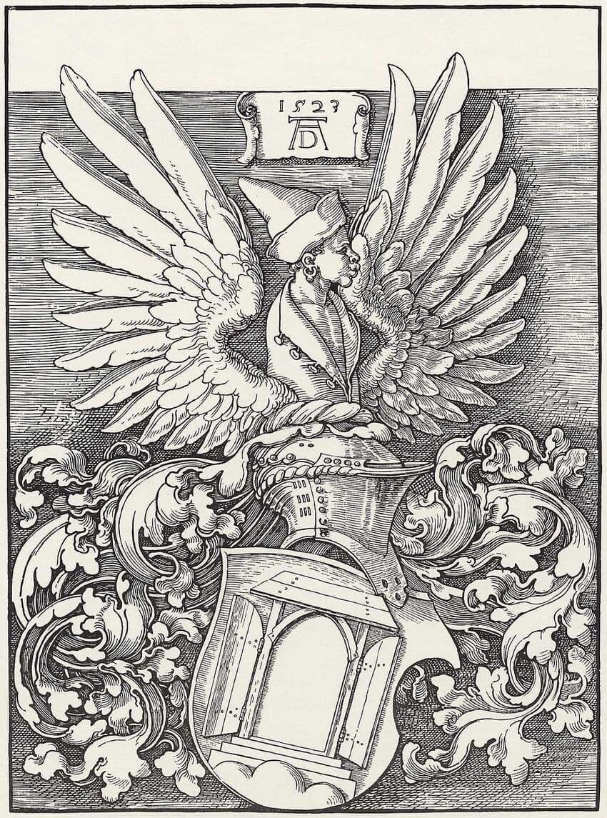 Превью – гербовый экслибрис Дюрера, коллекция книг